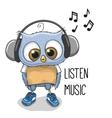 Cute Cartoon Owl Boy vector image vector image