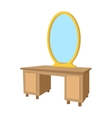 Dressing table with a mirror cartoon icon vector image vector image