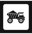 Dump truck icon simple style vector image vector image