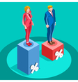 Election Infographic Pools Politics Isometric vector image vector image
