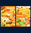 fast food snacks sandwiches and burgers menu vector image vector image