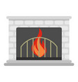fireplace icon cartoon style vector image vector image