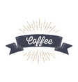 flag ribbon coffee old school banner vector image