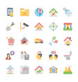flat icons collection of real estate vector image