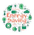 green energy saving concept vector image vector image
