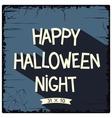 Happy Halloween Night poster vector image vector image