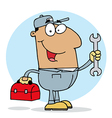 Happy Hispanic Mechanic Guy vector image vector image