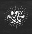 happy new year 2020 typography vector image
