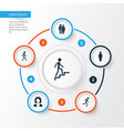 human icons set collection of beloveds running vector image vector image