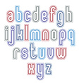 Light geometric font with outline modern capital vector image