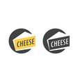 logo with piece of italian parmesan cheese in vector image vector image