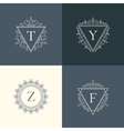 Luxury logo vintage vector image