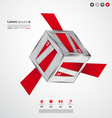 Modern cube origami banners vector image vector image