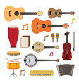 Music Instruments Acoustic Objects Set vector image