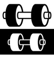 one arm barbell weight symbol with 2 plates vector image