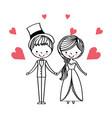 people wedding day vector image vector image