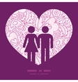 pink flowers lineart couple in love silhouettes vector image vector image