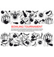 poster for bowling tournament vector image