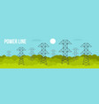 power line banner flat style vector image vector image