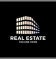 real estate construction logo design template on vector image vector image