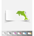 realistic design element dolphin vector image vector image