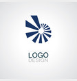 round square abstract logo vector image
