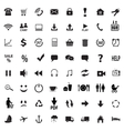 Set social icons vector image