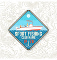 sport fishing club patch vector image