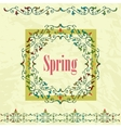 Spring graphic design on a green background vector image vector image
