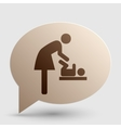Symbol for women and baby baby changing Brown vector image vector image
