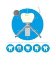 Tooth implant isolated vector image