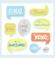 trendy and colorful speech bubbles set messages vector image vector image