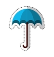 Umbrella packing symbol icon vector image