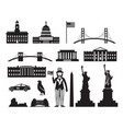 united states america usa objects silhouette vector image vector image