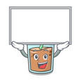 up board bubble tea character cartoon vector image vector image