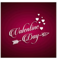 valentines day with pink background vector image