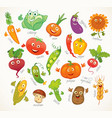 vegetables funny cartoon character vector image vector image
