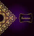 vintage background victorian gold ornament vector image vector image