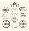 Vintage Summer Sale Labels vector image