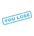 You Lose Rubber Stamp vector image vector image