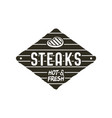steaks old style patch rustic design bbq badge vector image