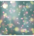 Bokeh light blurry romantic background vector image