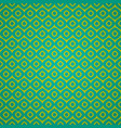seamless geometric pattern in retro green colors vector image