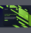 abstract geometric background design landing page vector image