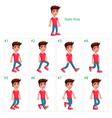 animation boy walking vector image vector image