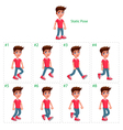Animation of boy walking vector image vector image
