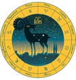 Aries signs of the zodiac vector image vector image