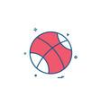 ball playing play game icon design vector image