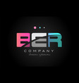 ber b e r three letter logo icon design vector image vector image