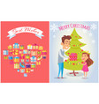 best wishes on merry christmas vector image vector image